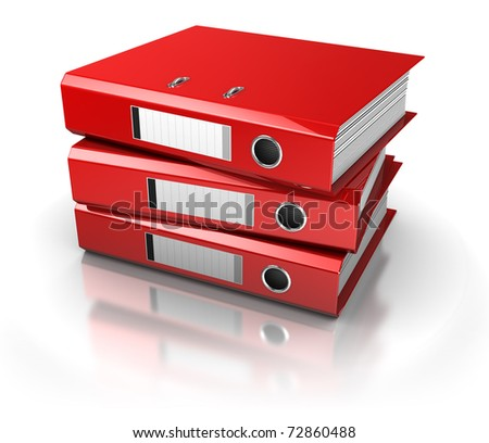 documents folders over white background