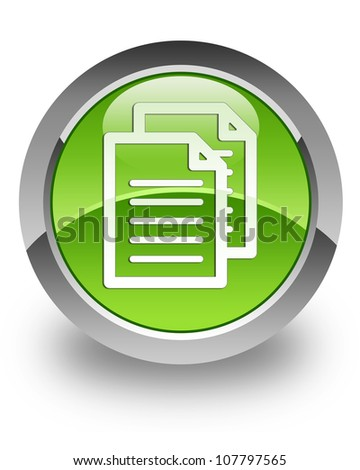 Documents icon on glossy green round button