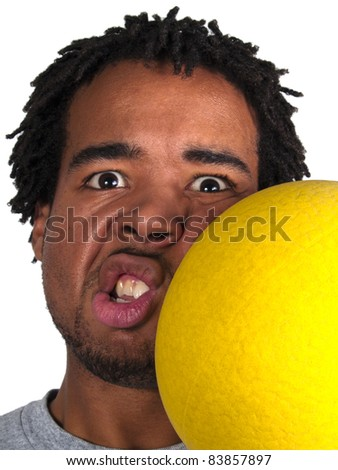 dodgeball player getting hit on the face