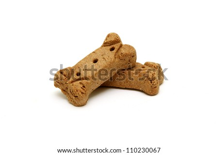 dog biscuit bone cookies isolated on a white background