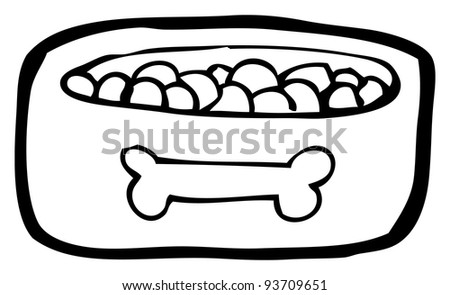 dog bowl cartoon (raster version)