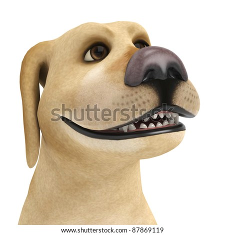 dog cartoon portrait