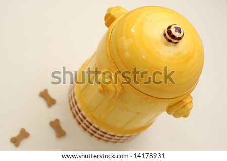 Dog Cookie Jar - stock photo