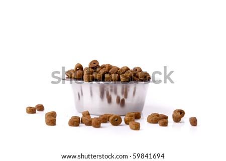dog food isolated - stock photo