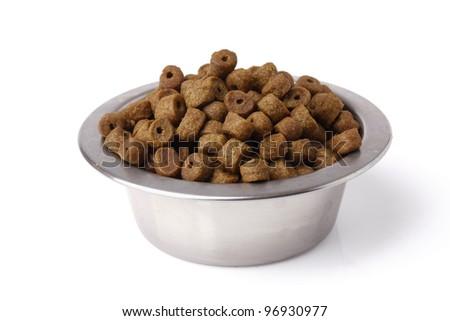 dog food , isolated on white background