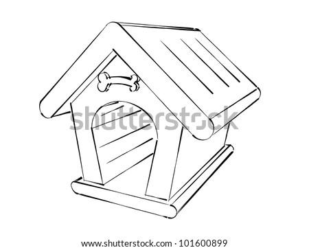 dog house illustration