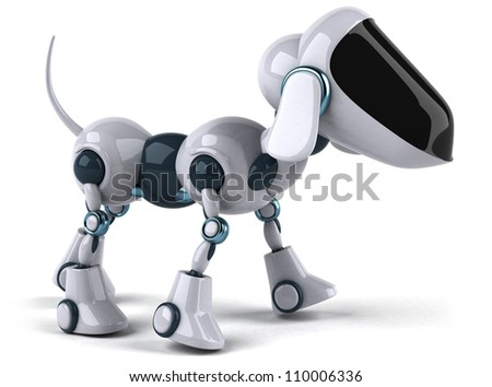 Dog robot - stock photo