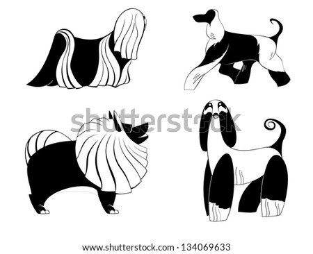 Dog silhouettes for design