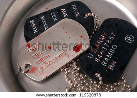 dog tag/army chains/Patriot soldiers of injury