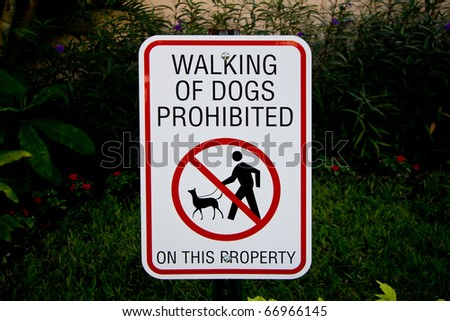 Dog Walking Ban Sign