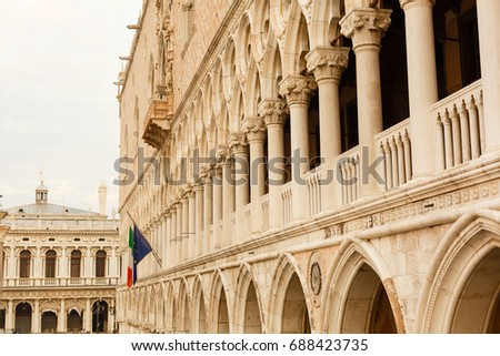 doge's palace in venice  italy .