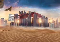 Doha Qatar skyline for National Day