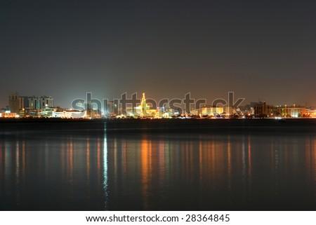 Doha - The capital city of Qatar - Night scene