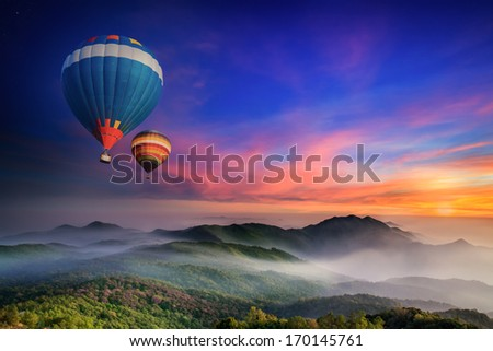 Stock Photo Doi Inthanon National park in the sunrise and main road at Chiang Mai Province, Thailand