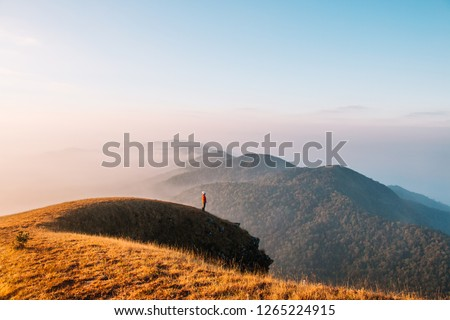 Doi Mon Jong has a beautiful landscape filled with mountain ranges in Chiangmai, Thailand Stockfoto ©