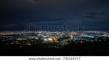 Doi Suthep Chiangmai night view