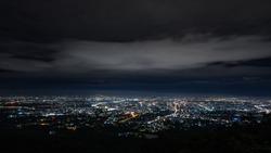 Doi Suthep Chiangmai night view before the rain