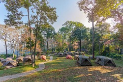 Doi Suthep National Park tent forest and camping chiangmai Thailand
