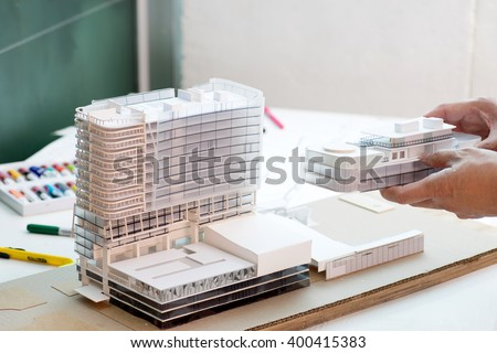 doing architecture  small model  dummy  building work
