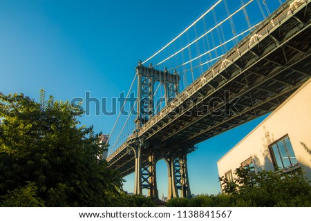 Doing Tourism in Dumbo Brooklyn New York #1138841567
