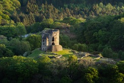 Dolbadarn castle at golden hour