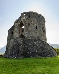 Dolbadarn Castle is at the base of the Llanberis Pass, in northern Wales