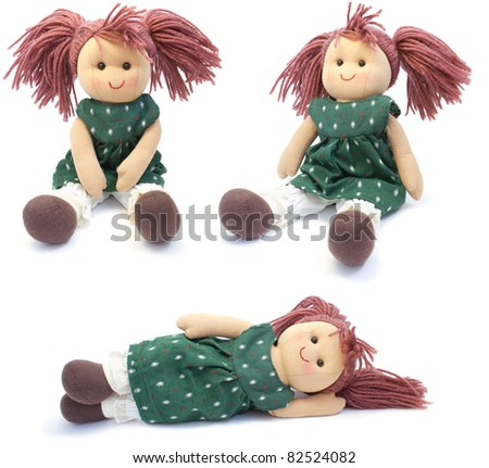 Shutterstock Doll made by hand. on a white background