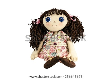 Shutterstock Doll with brown hair isolated on white
