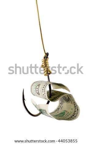 dollar bait on hook golden thread