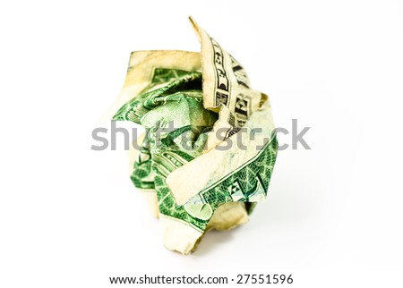 dollar bank note on white background