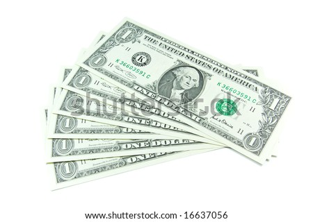 Dollar banknotes with face value 1