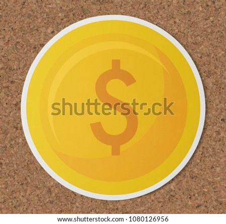 Dollar coin currency exchange icon #1080126956