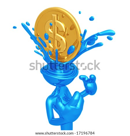 Dollar Coin Splashing Head
