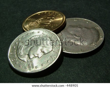 dollar coins (heads)