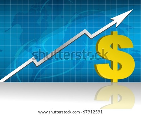 Dollar currency trading graph.