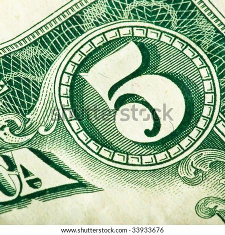 dollar detail closeup