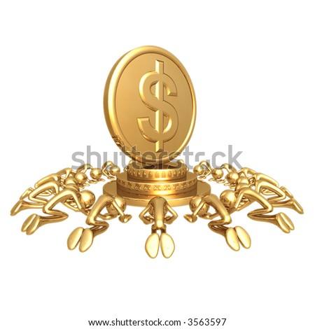 Dollar Gold Coin Worship