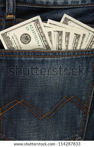 dollar in the Jeans Pocket.