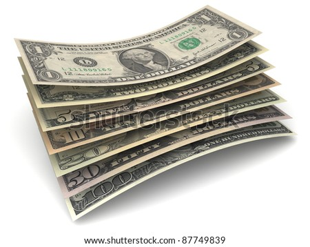 Dollar Money Banknotes