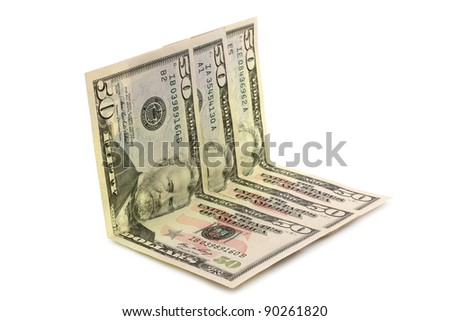 Dollar money on white background