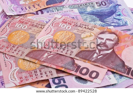 Dollar notes in New Zealand currency