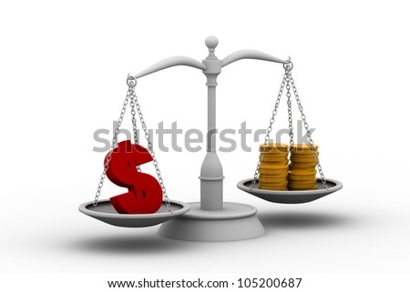 dollar on scales