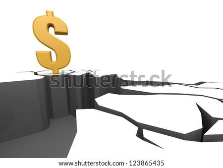 Dollar on the cliff