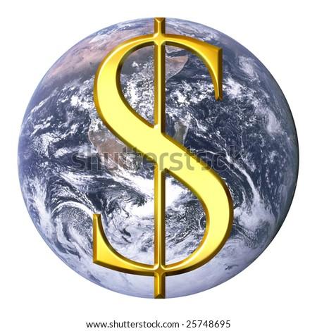 Dollar over earth