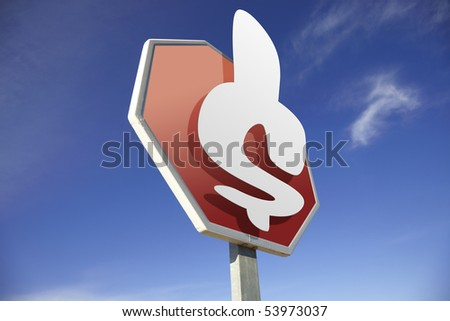 Dollar road sign