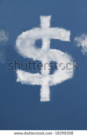 Dollar shaped Cloud (see also my euro, star and arrow shaped clouds)