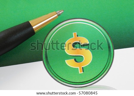 Dollar sign concepts of investing, profits, and wealth - stock photo