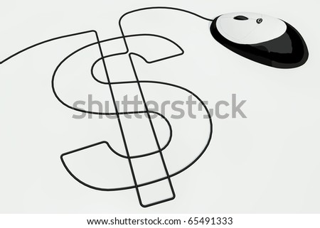 dollar sign drawn with computer mouse wire