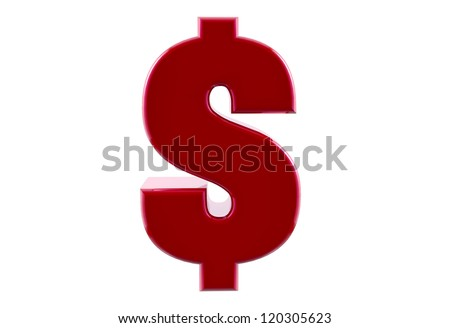 Dollar sign on isolated background