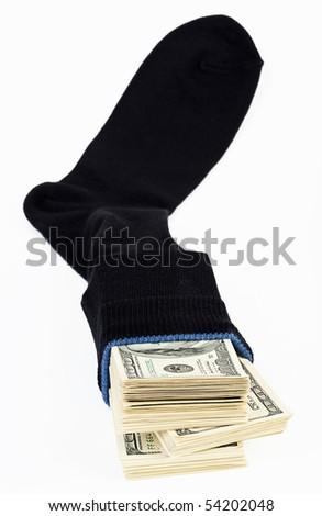 Dollar stock in a sock